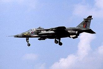 No. 17 Squadron RAF - No. 17 Squadron SEPECAT Jaguar GR.1 (XX768) at RAF Brüggen, 1982.