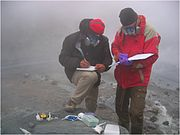 ake Maule and Jan Toporski use LOCAD-PTS in crater of Mutnvosky Volcano