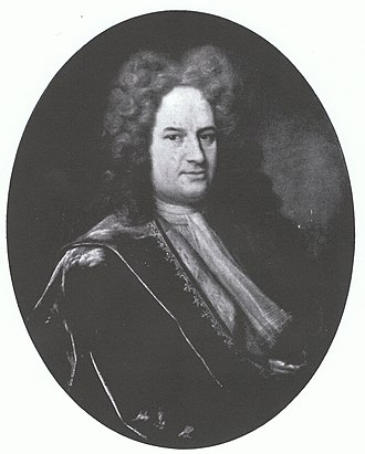 Earl Stanhope - James, first Earl Stanhope, from a portrait by Denner at Chevening.