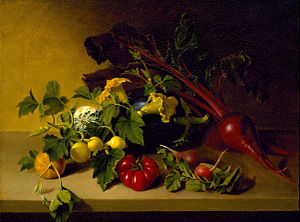 James Peale - Still Life with Vegetables