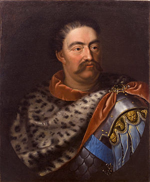 John III Sobieski - Portrait of John III by Jan Tricius