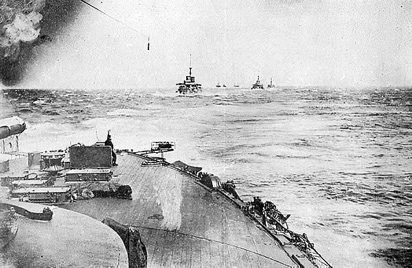 Japanese Fleet Proceeding Toward The Baltic Fleet