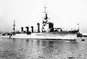 Naka in 1925, at Yokohama prior to commissioning