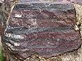 Jaspilite (Soudan Iron-Formation, Neoarchean, ~2.69 Ga; Soudan Mine, Soudan, Minnesota, USA) 1 (18410611053).jpg