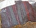 Jaspilite (Soudan Iron-Formation, Neoarchean, ~2.69 Ga; Soudan Mine, Soudan, Minnesota, USA) 8 (19031176755).jpg