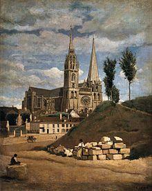 La Cathédrale de Chartres, 1830.