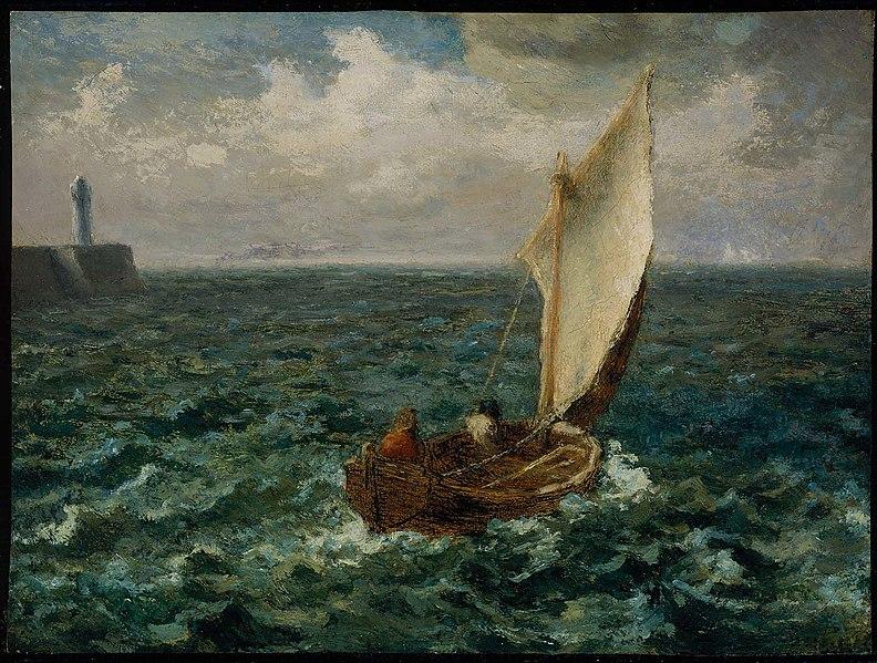 Ca s'est passé en octobre ! 792px-Jean-Fran%C3%A7ois_Millet_-_Fishing_Boat_-_17.1530_-_Museum_of_Fine_Arts