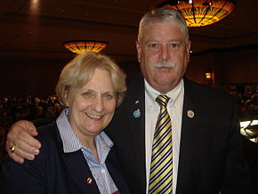 Don Cantriel & his successor, Jeanette Dwyer