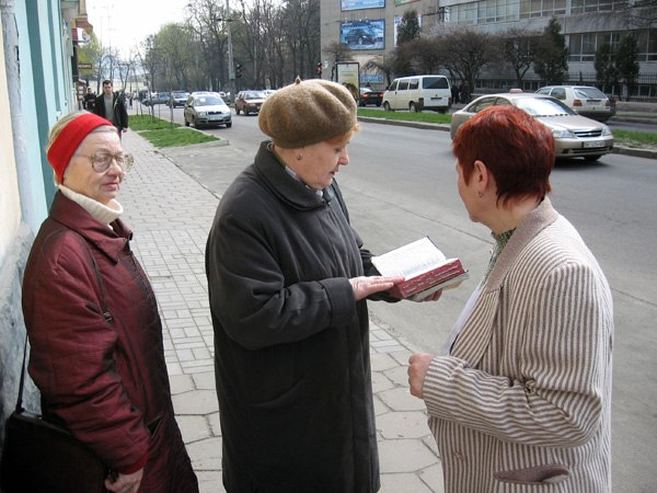 Jehova witnesses in Lvov