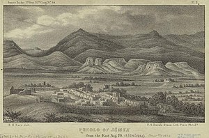 Jemez Pueblo, New Mexico - Jemez Pueblo, 1850 illustration