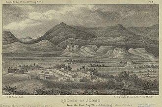 Jemez Pueblo, New Mexico - Jemez Pueblo, 1850 illustration