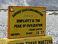 Jessie Sampter quotation on Himank BRO sign board in the Nubra Valley, Ladakh, Northern India.JPG