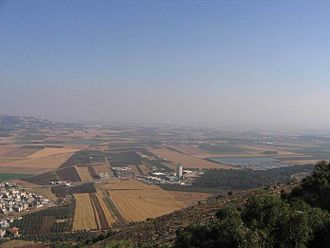 Nazareth Illit - View of Jezreel Valley from Nazareth Illit