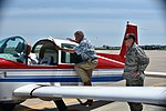 Jim Inhofe boards his airplane positioned in front of Base Ops following a brief visit to Tinker Air Force Base.jpg