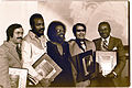 Jim Jones receives the Martin Luther King, Jr. Humanitarian Award - January 1977.jpg