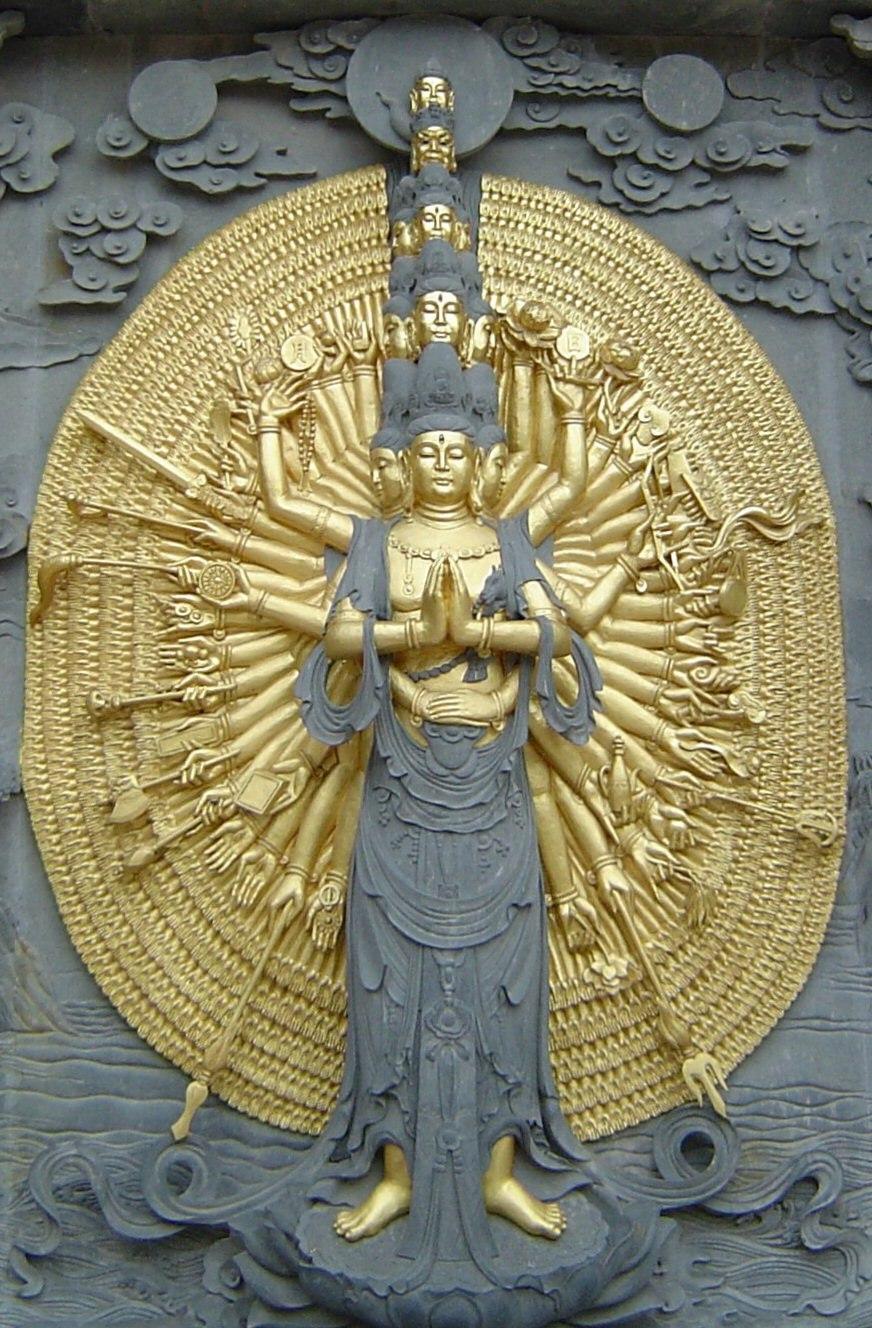Jiuhuashan bodhisattva image
