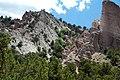 Joe Lott Tuff & normal fault & drag-folded Sevier River Formation (Joe Lott Creek Canyon, Tushar Mountains, Utah, USA) 2.jpg