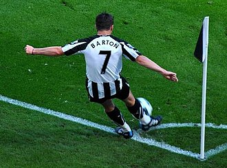 Joey Barton - Barton playing for Newcastle United in 2010