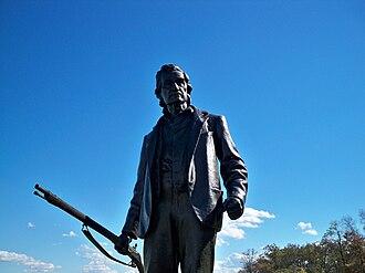 John L. Burns - A statue of John Burns at Gettysburg National Military Park
