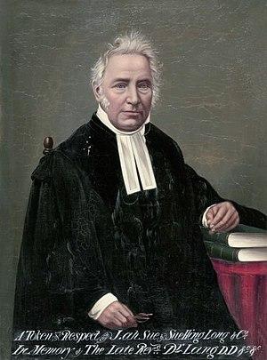 John Dunmore Lang - Posthumous portrait of Lang, circa 1888.