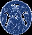 John George Caradja's seal, 1818.png
