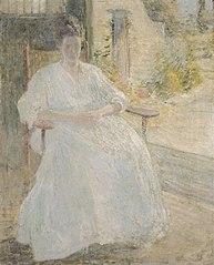 Figure in Sunlight (Artist's Wife)