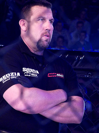 John McCarthy (referee) - McCarthy refereeing during MMA Attack 2 in Katowice, Poland