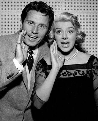 John Raitt - Publicity photo with Rosemary Clooney from the television program The Lux Show featuring Rosemary Clooney (1957-58)