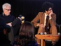 John Slattery (God's Pocket) and Richard Ayoade (The Double) (12026171294).jpg