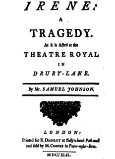 play by Samuel Johnson