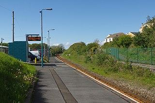 Johnston railway station Johnston, Pembrokeshire, Wales