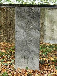 Josef Edward Duvanel (1941–1986) artist, celebrities Grabfeld, Friedhof am Hörnli