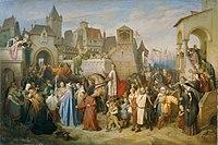 Joseph Mathias von Trenkwald - Herzog Leopolds des Glorreichen Einzug in Wien nach dem Kreuzzug von 1219 - 7793 - Kunsthistorisches Museum.jpg