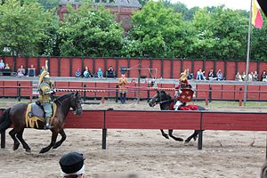 Middelaldercentret - The jousting at the museum.