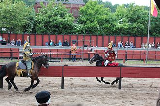 Falster - Jousting at the Middle Ages Centre.