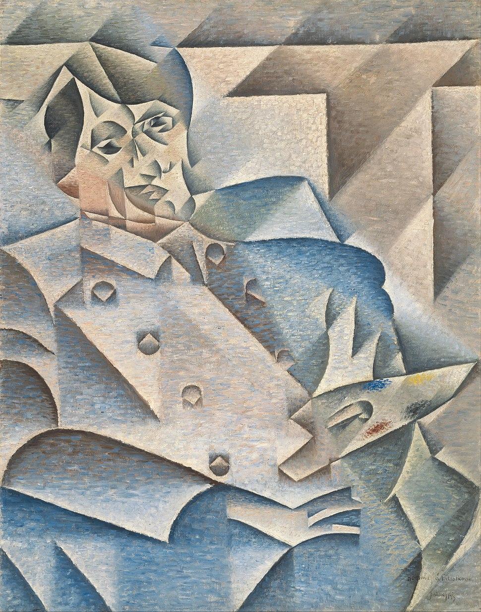 Juan Gris - Portrait of Pablo Picasso - Google Art Project