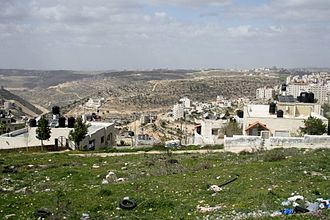 West Bank - View of the Judaean Mountains from Ramallah