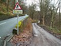 Junction of Lee Wood Road and private road to Hebden Hey Scout Centre - geograph.org.uk - 273267.jpg