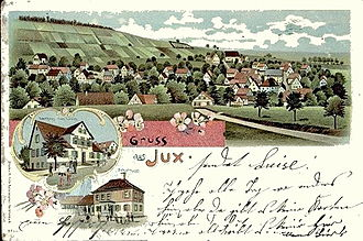 Spiegelberg - Village of Jux in 1900