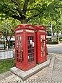 K2 telephone kiosks, South End Green, July 2021.jpg
