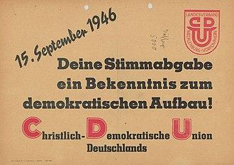 Mecklenburg (1945–1952) - Image: KAS Wahlaufforderung Bild 11452 1