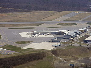 Wilkes-Barre/Scranton International Airport - Terminal buildings as seen from the air