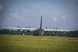 KC-130J Super Hercules prepares to take off from Marine Corps Air Station Beaufort.jpg