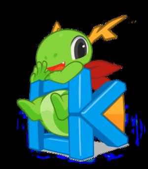 KDE Frameworks - Image: KDE Mascot Konqi for KDE Frameworks