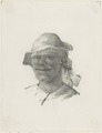 KITLV - 36B283 - Borret, Arnoldus - Man with headscarf and hat - Pencil - Circa 1880.tif