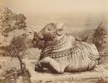 KITLV 92049 - Unknown - Nandi on Chahmundi Hill Mysore in India - Around 1870.tif