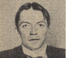 Photo of Kaj Munk published in the De Wervelwind, February 1944.