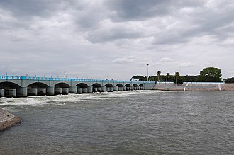 Tamil Nadu - Kallanai or Grand Anicut, an ancient dam built on the Kaveri River in Tiruchirappalli district by Karikala Chola around the 2nd century AD