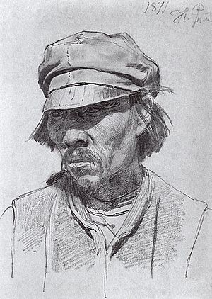 Kalmyks - Portrait of a Kalmyk man