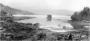 1933 Sanriku earthquake - Kamaishi Bay, Iwate after the event